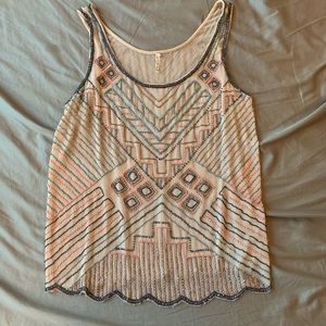 Willow & Clay Beaded top